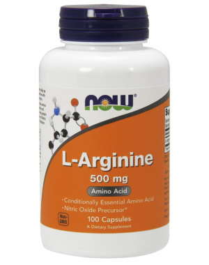 Arginina 500mg 100 CAPS NOW Foods