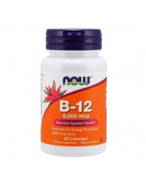 Vitamina B12 5000mcg 60 lozenges NOW Foods