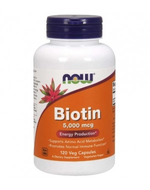 Biotin 5000 mcg 120 Vegcaps NOW Foods