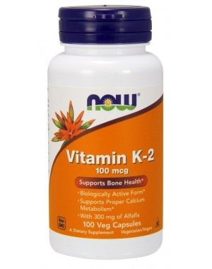 Vitamina K2 100 mcg 100 Veg Capsules NOW Foods