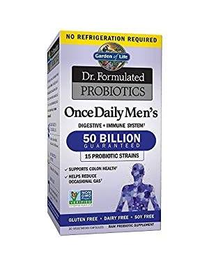 Probiotics Once Daily's Men's Probiotico para homens uma vez ao dia Dr Formulated GARDEN OF LIFE