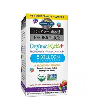 Probiotics Organic Kids Dr. Formulated 30 yummy chewables GARDEN OF LIFE