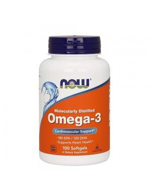 Omega 3 1000mg 100 Softgels NOW Foods