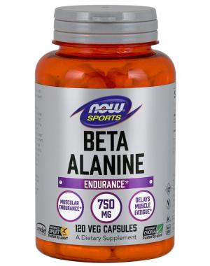 Beta Alanina  750 mg 120 Capsules NOW Foods
