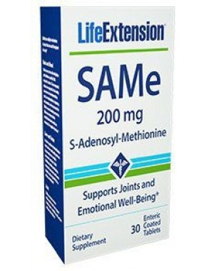 SAMe S-Adenosyl-Methionine 200 mg 30 enteric coated tablets LIFE Extension