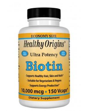 Biotin 10,000mcg 150vcaps Healthy Origins