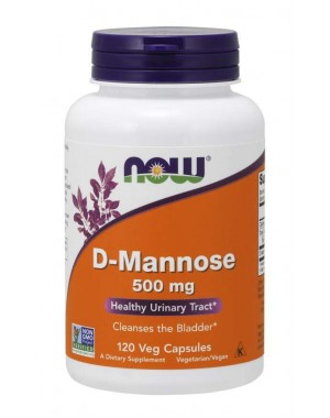 D Mannose 500 mg 120 Veg Capsules NOW Foods