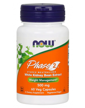 Phase 2 500 mg 60 Veg Capsules NOW Foods