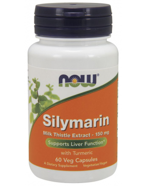 Silymarin Milk Thistle Extract 150 mg 60 Veg Capsules NOW Foods