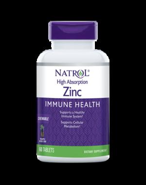 Zinco para imunidade 60 tablets sabor: Abacaxi NATROL