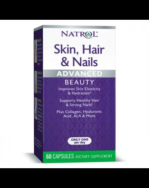 Hair Skin e Nails Cabelo, pele e unha com Luteina 60caps NATROL