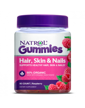 Hair Skin e Nails Cabelo, pele e unha sabor: Raspberry 90gummies NATROL