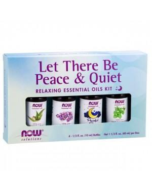 Kit de Óleos Essencias Let There Be Peace & Quiet Oil Kit 40 ml NOW Foods