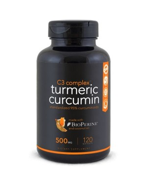 Turmeric Curcumin 500mg Sports Research - 120 caps