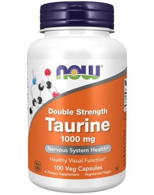 Taurine, Double Strength 1000 mg 100 Veg Capsules NOW