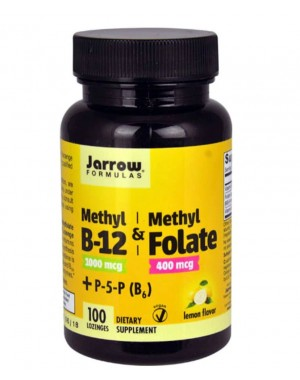 Methyl B12 & Methyl Folate plus Pyridoxal-5-Phosphate Lemon 100 lozenges Jarrow Formulas