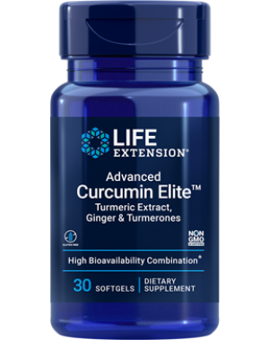 Advanced Curcumin Elite Turmeric Extract, Ginger & Turmerones 30 softgels Life Extension