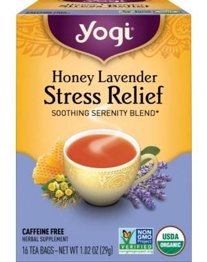 Chá Honey Lavender Stress Relief Tea - Yogi