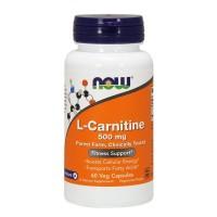 L Carnitina 500mg 60 Veg Caps NOW Foods