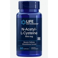 NAC N Acetyl L Cysteine 600mg 60caps LIFE Extension