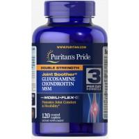 Glucosamina e Chondroitina Double Strength & MSM 120 caplets PURITANS