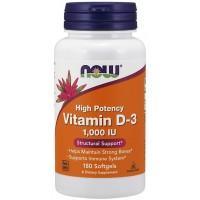 Vitamin D3 1,000 IU 180 Softgels NOW Foods