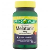 Melatonina 3mg FD 120 tablets morango SPRING Valley