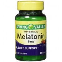 Melatonina 5mg FD 120 tablets morango SPRING Valley