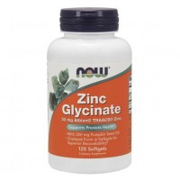 Zinc Glycinate 120 Softgels NOW Foods
