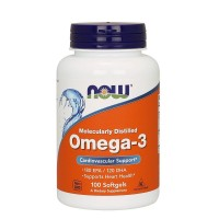 Omega 3 1000mg 100 Softgels NOW Foods