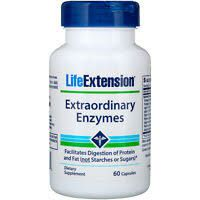Extraordinary Enzymes 60 capsules LIFE Extension