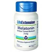 Melatonina 6 Hour Timed Release 3mg 60 caps LIFE Extension
