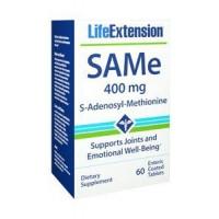 SAMe S-Adenosyl-Methionine 400 mg 60 enteric coated tablets LIFE Extension