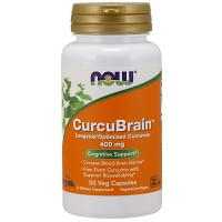 CurcuBrain 400 mg 50 Veg Capsules NOW Foods