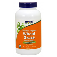 Wheat Grass Powder Certified Organic 255g NOW Foods