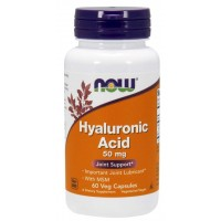 Acido Hialuronico MSM 50mg 60 Veg Capsules NOW Foods