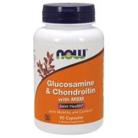 Glucosamine e Chondroitin com MSM 90 Capsules NOW Foods