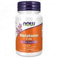 Melatonina 3 mg 90 Lozenges NOW Foods