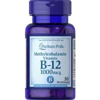 Vitamin B 12 Methylcobalamin Vitamina B12 1000 mcg 30 microlozenges PURITAN S Pride