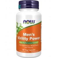 Men's Virility Power poder de virilidade dos homens 60 vcaps NOW Foods