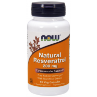 Natural Resveratrol 200 mg 60 Veg Capsules NOW Foods