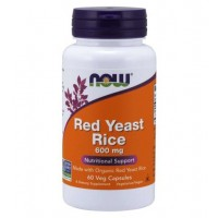 Red Yeast Rice 600 mg 60 Veg Capsules NOW Foods