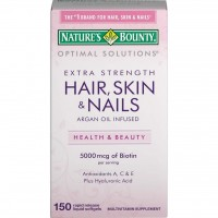 Hair Skin & Nails 5.000 mcg Extra Strength -150 Softgels NATURES Bounty