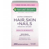Hair Skin & Nails com Biotin 250 softgels NATURE Bounty