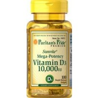 Vitamina D3 10.000 IU 100 softgels PURITANS Pride