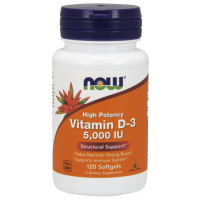 Vitamina D3 5000 IU 120 Softgels NOW Foods