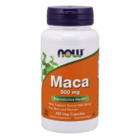 Maca 500mg 100 veg caps NOW Foods