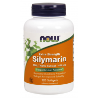 Silymarin NOW Milk Thistle Extract Extra Strength 450 mg 120 Softgels NOW Foods