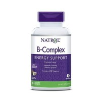 B-Complex Energy Support Fast Dissolve Sublingual sabor coco 90 tablets NATROL