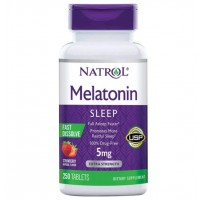 Melatonina 5mg FD sublingual 250tablets NATROL vencimento 06/2021